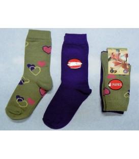 Pack calcetines Carlomagno Corazones 2 pares