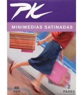 Minimedias satinadas PK, 2 pares