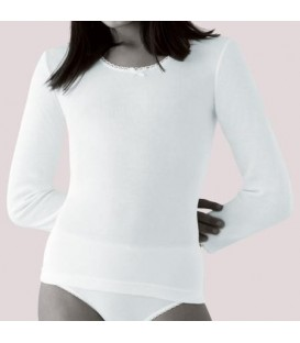 Camiseta Princesa manga larga termal para niña