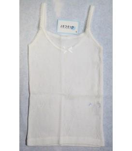 Camiseta con dibujo en perlé para niña Diacar