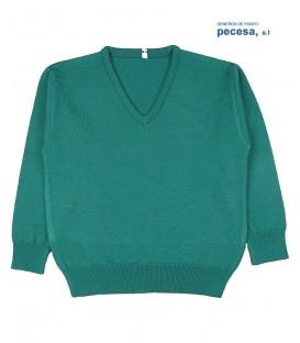 Jersey cuello pico Pecesa lana poliéster